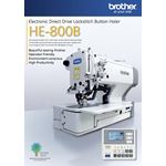 BROTHER HE-800B Electronic Direct Drive Lockstitch Button Holer
