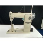 Postbed sewing machine for leather