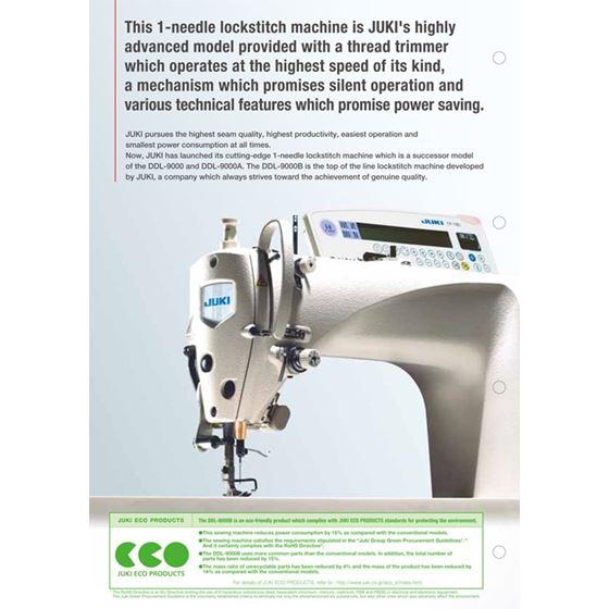 JUKI DDL-9000B Single Needle, High Performance Lock Stitch Sewing Machine