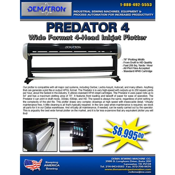 PREDATOR 4 Wide Format Ink Jet Plotter | 4 Head 2