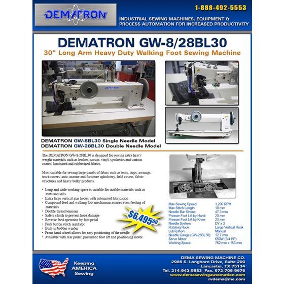 GW-28BL30 Double Needle Long Arm Heavy Duty 2