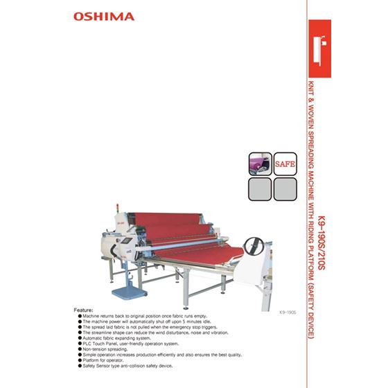 KNIT AND WOVEN SPREADING MACHINE 2