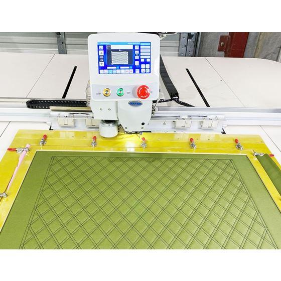 cnc sewing machine double diamonds