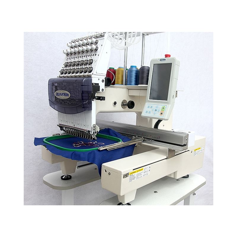 1501 Single Head Embroidery Machine, 15 Colors